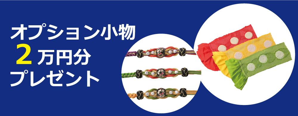 オプション小物2万円分プレゼント!
