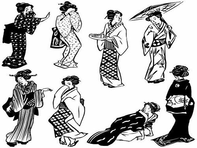 江戸時代の女性のイラスト