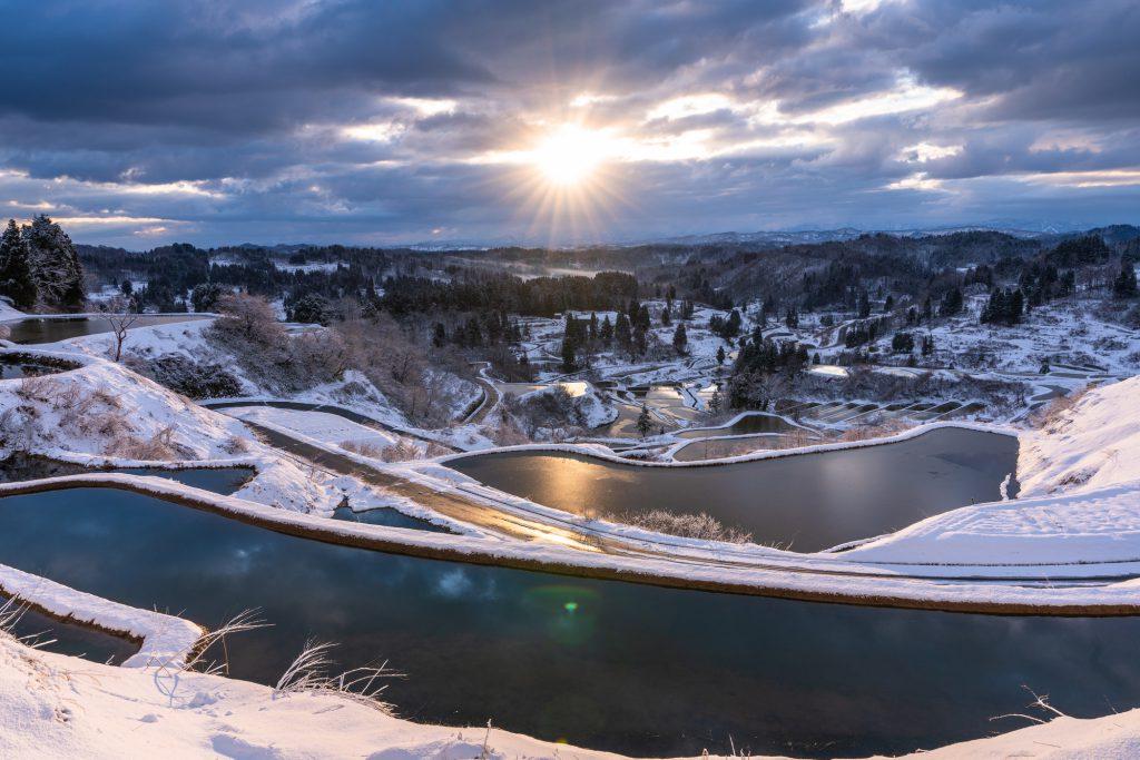 十日町の雪景色